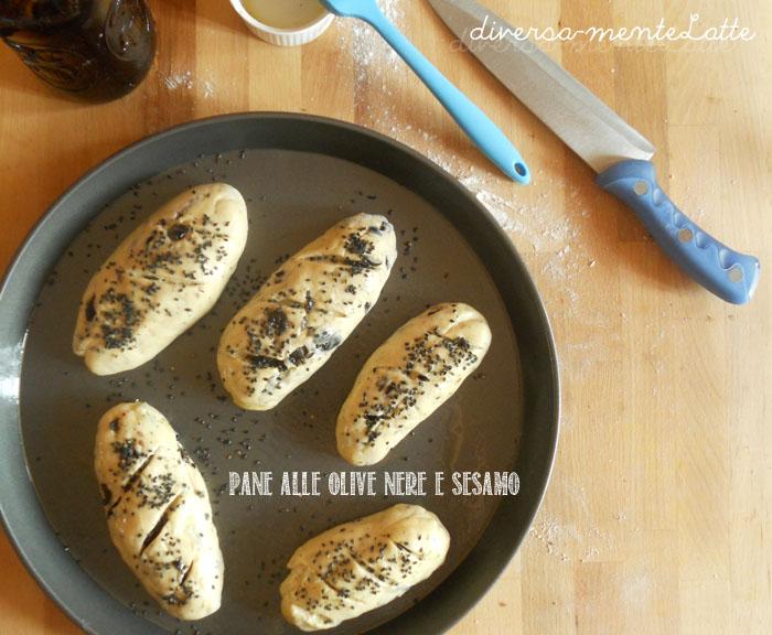 Pane alle olive nere da infornare