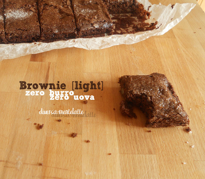 Brownie light zero lattosio zero uova