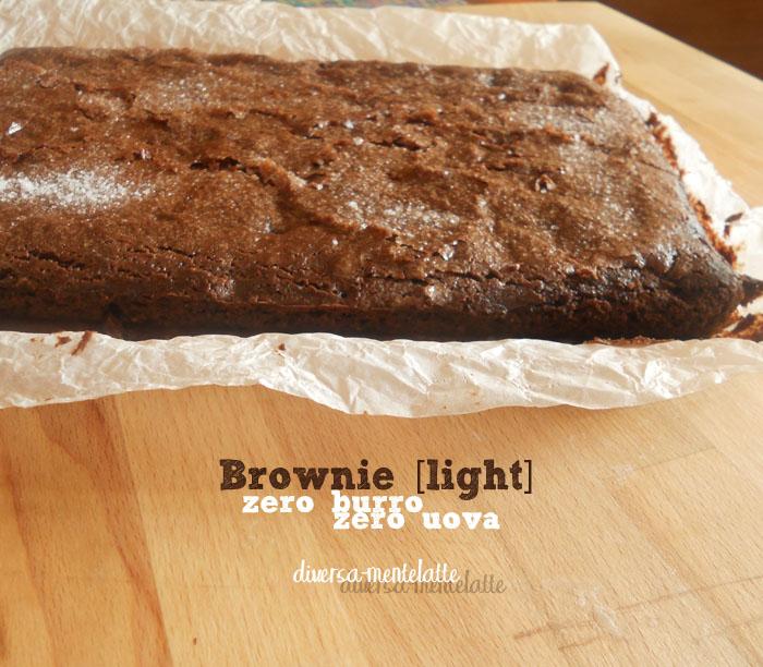 Brownie zero burro zero uova