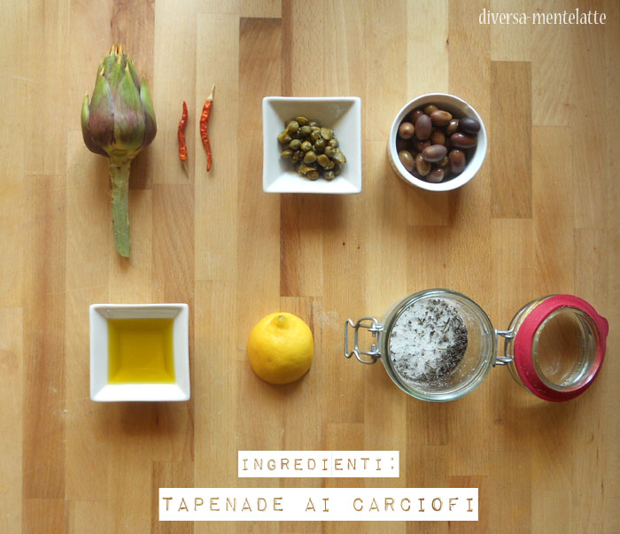 Ingredienti tapenade ai carciofi