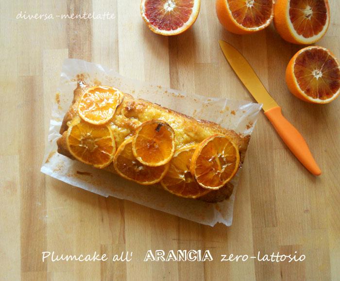 Plumcake arancia senza lattosio