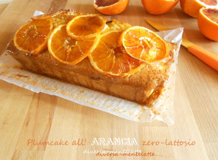 Plumcake arancia zerolattosio con glassa