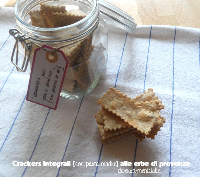 Crackers integrali con pasta madre erbe di provenza
