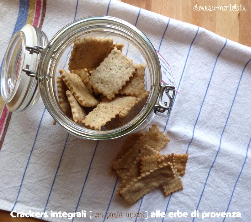Crackers integrali pasta madre alle erbe di provenza