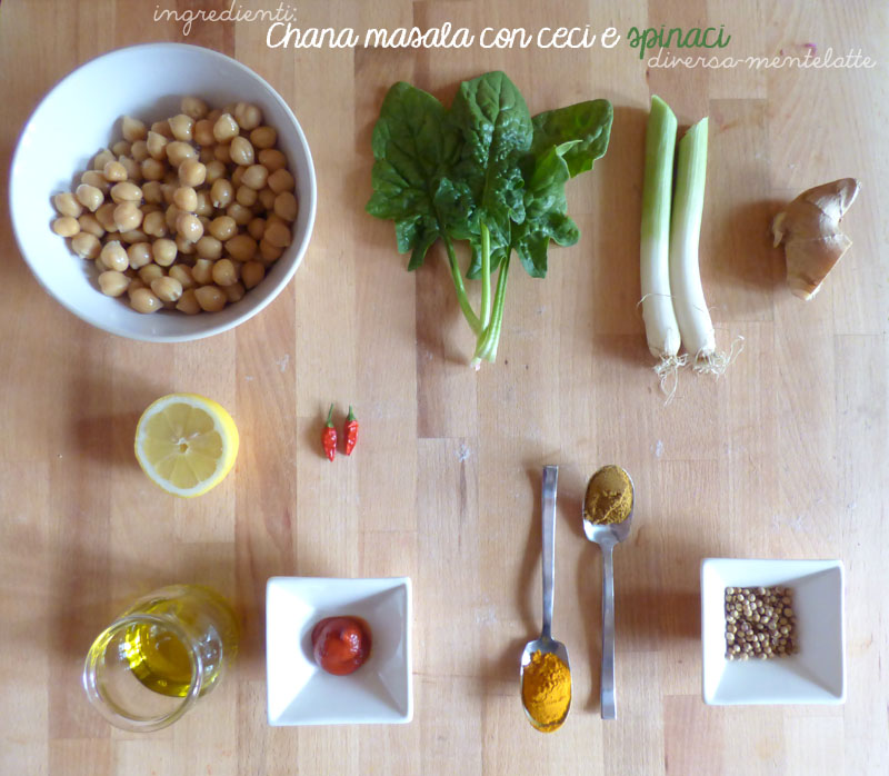 Ingredienti chana masala