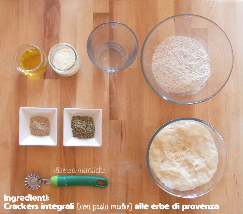 Ingredienti crackers integrali alle erbe di provenza