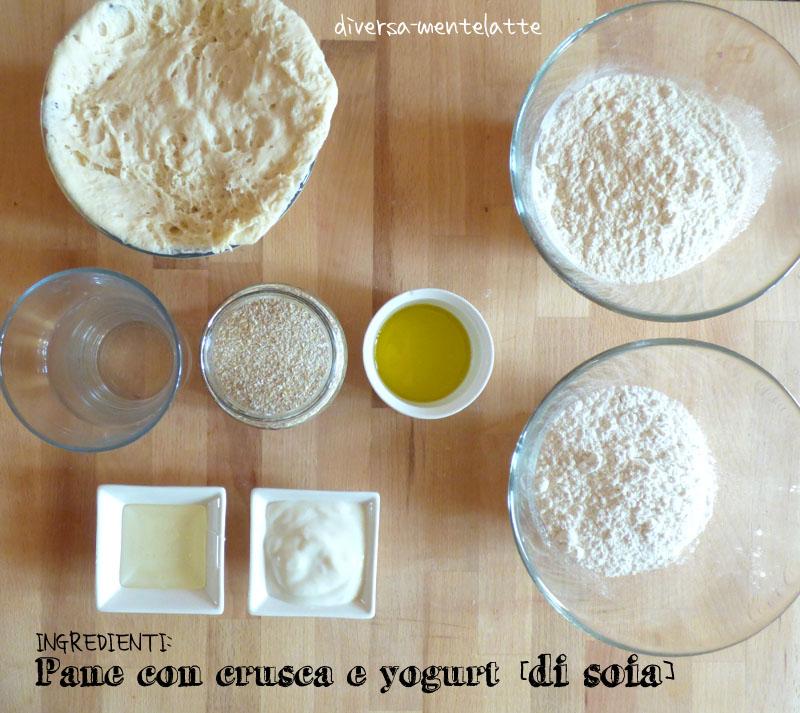 Ingredienti pane con crusca e yogurt