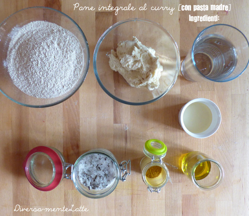 Ingredienti pane ntegrale al curry