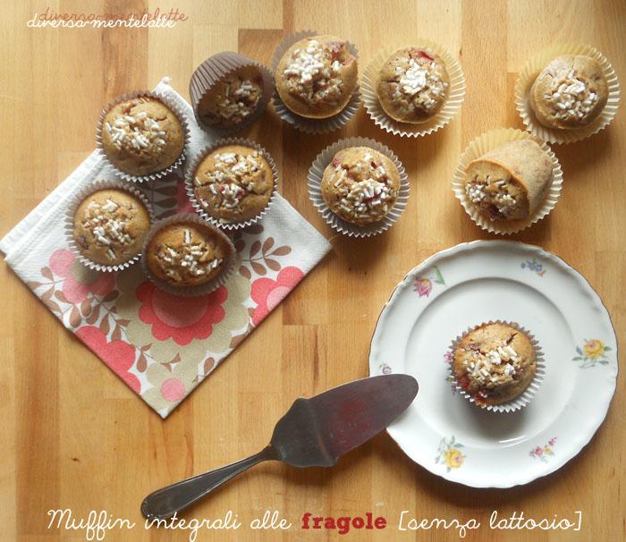 Muffin integrali alle fragole senza lattosio