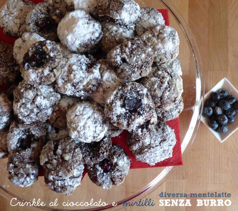 Crinkle con cioccolato mirtilli senza burro