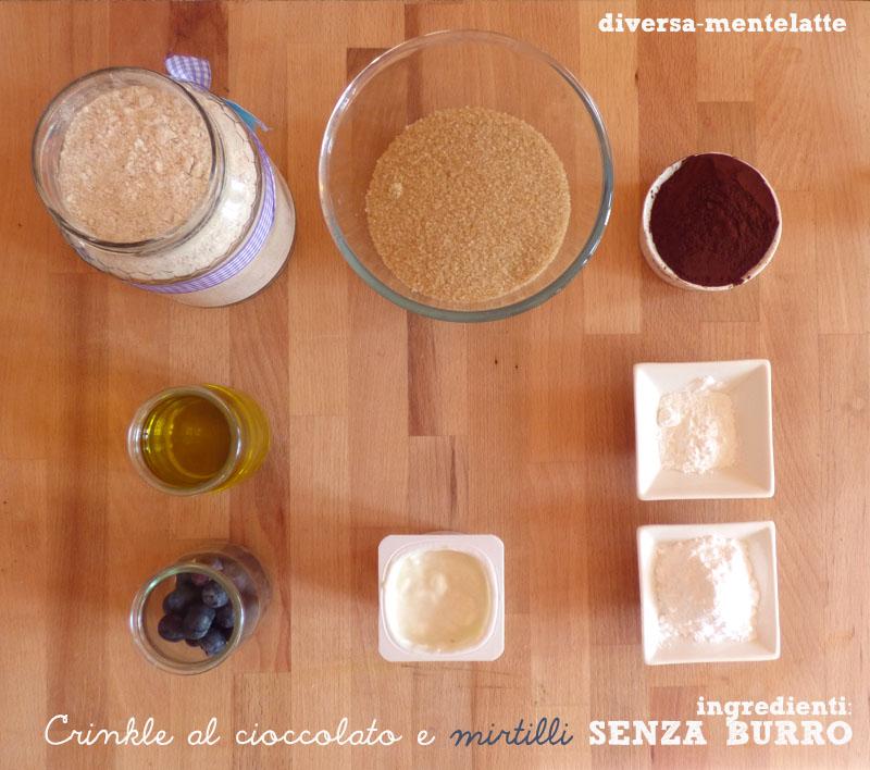 Ingredienti crinkle senza burro