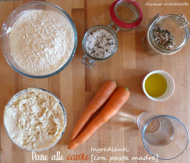 Ingredienti pane alle carote