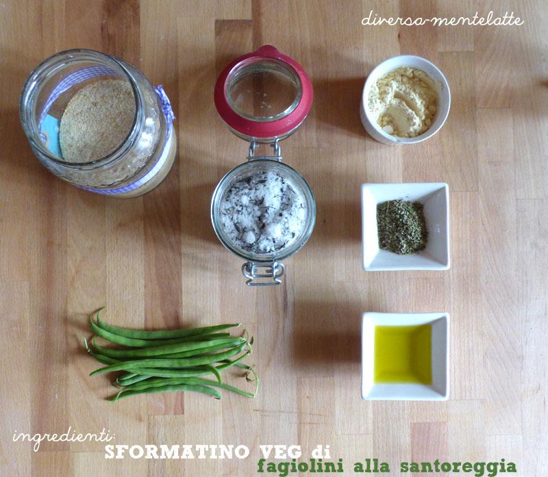 Ingredienti sformatino veg fagiolini