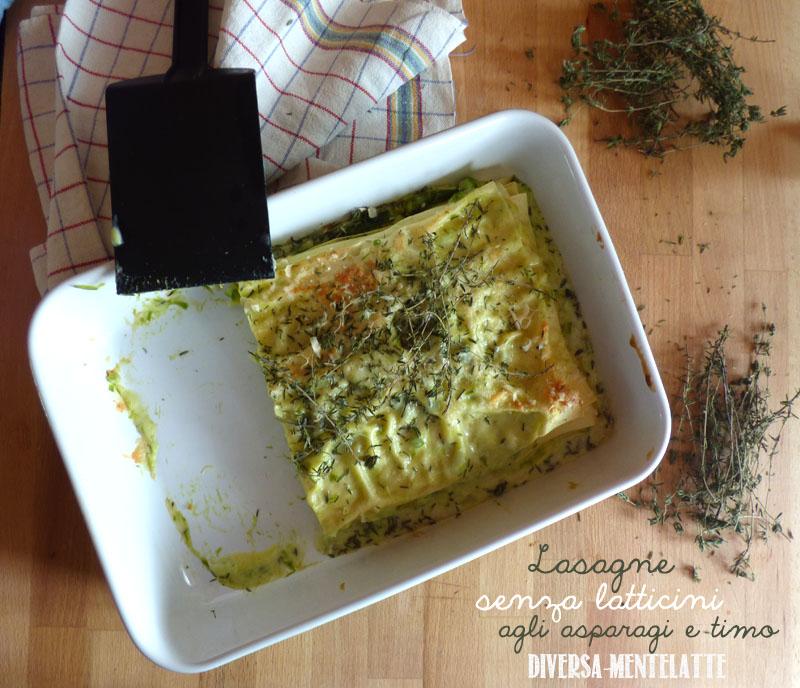 Lasagne agli asparagi e timo