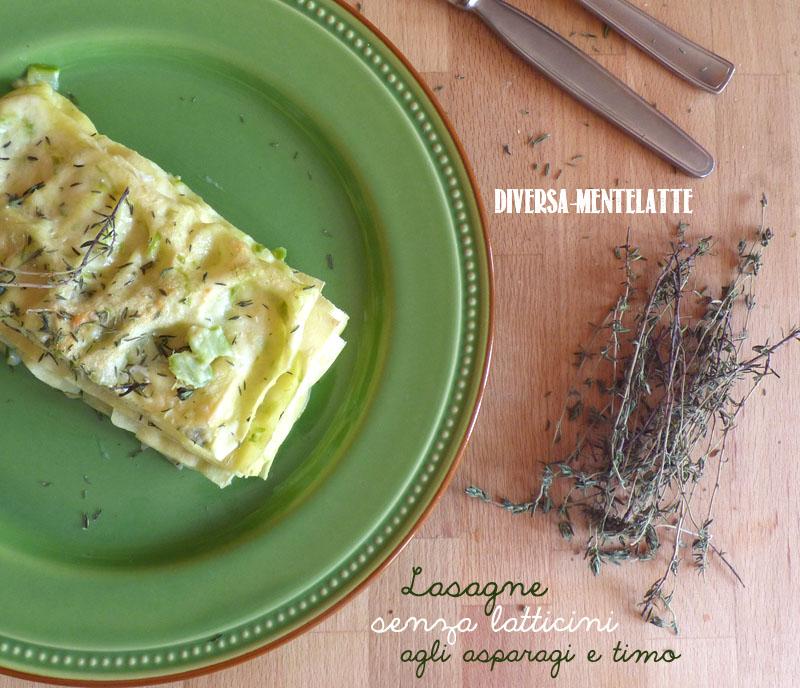 Lasagne senza latticini asparagi
