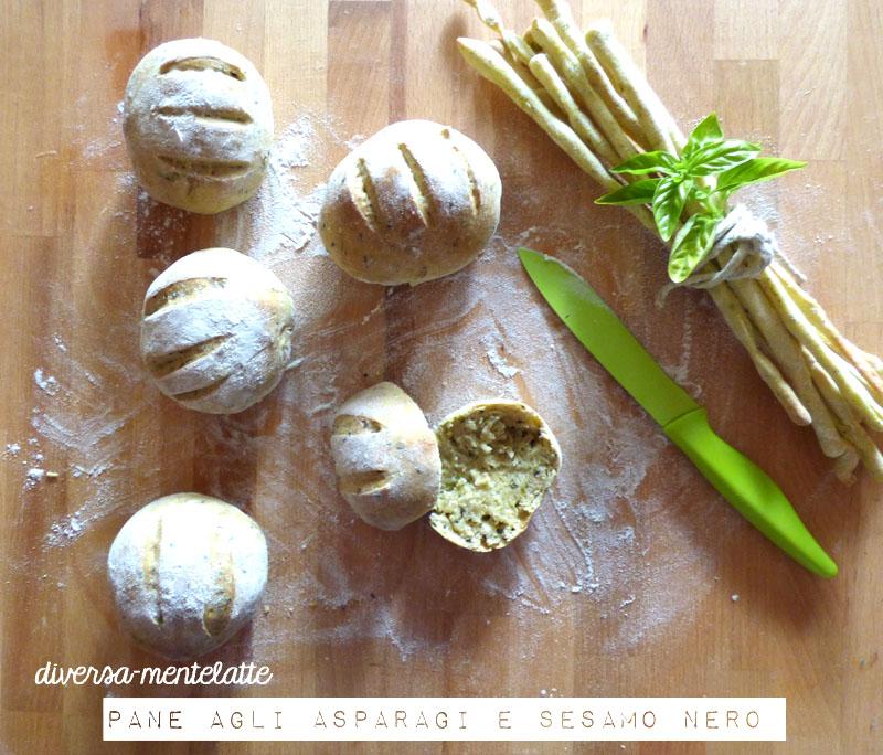 Pane agli asparagi con pasta madre