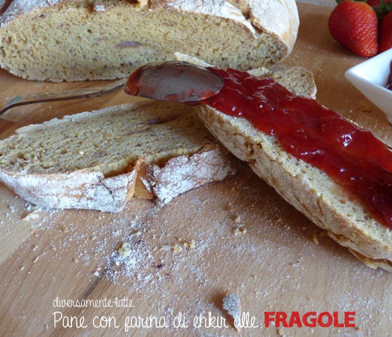 Pane dolce con fragole