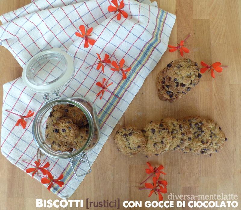 Biscotti rustici con gocce di cioccolato