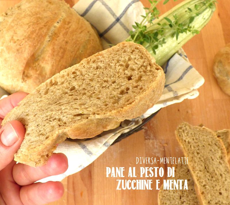 Pane al pesto di zucchine con pasta madre