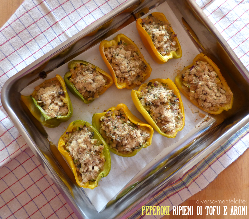 Peperoni ripieni di tofu e aromi