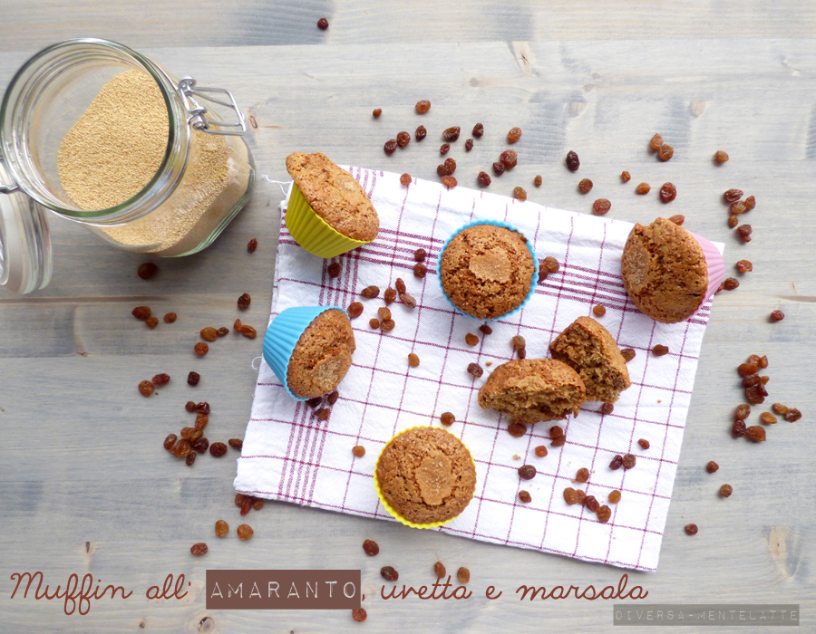 muffin amaranto uvetta marsala