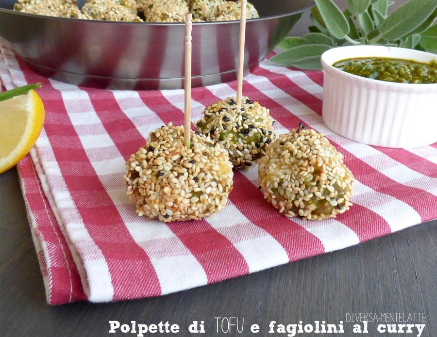 polpette tofu fagiolini curry