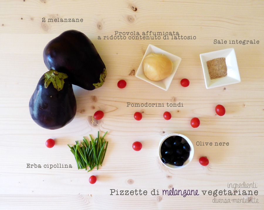 ingredienti pizzette di melanzane vegetariane