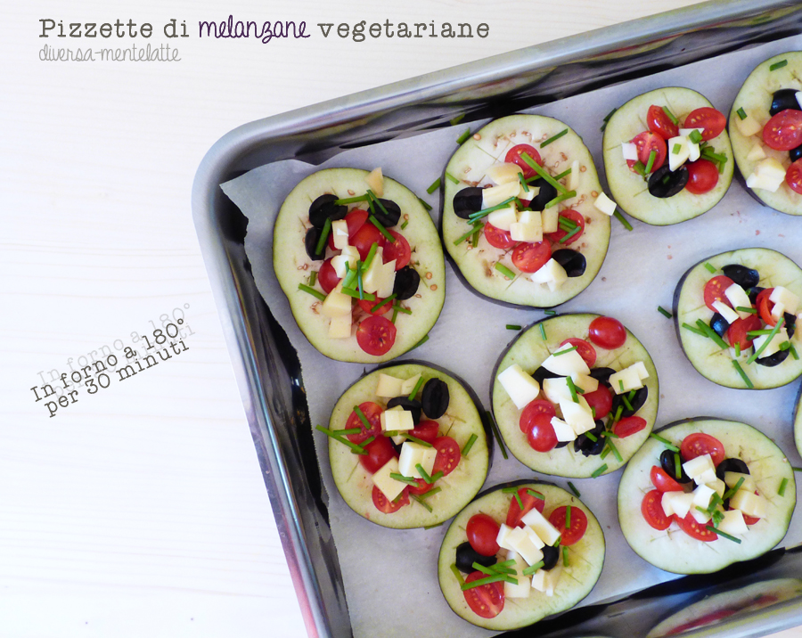 pizzette di melanzane vegetariane da cuocere
