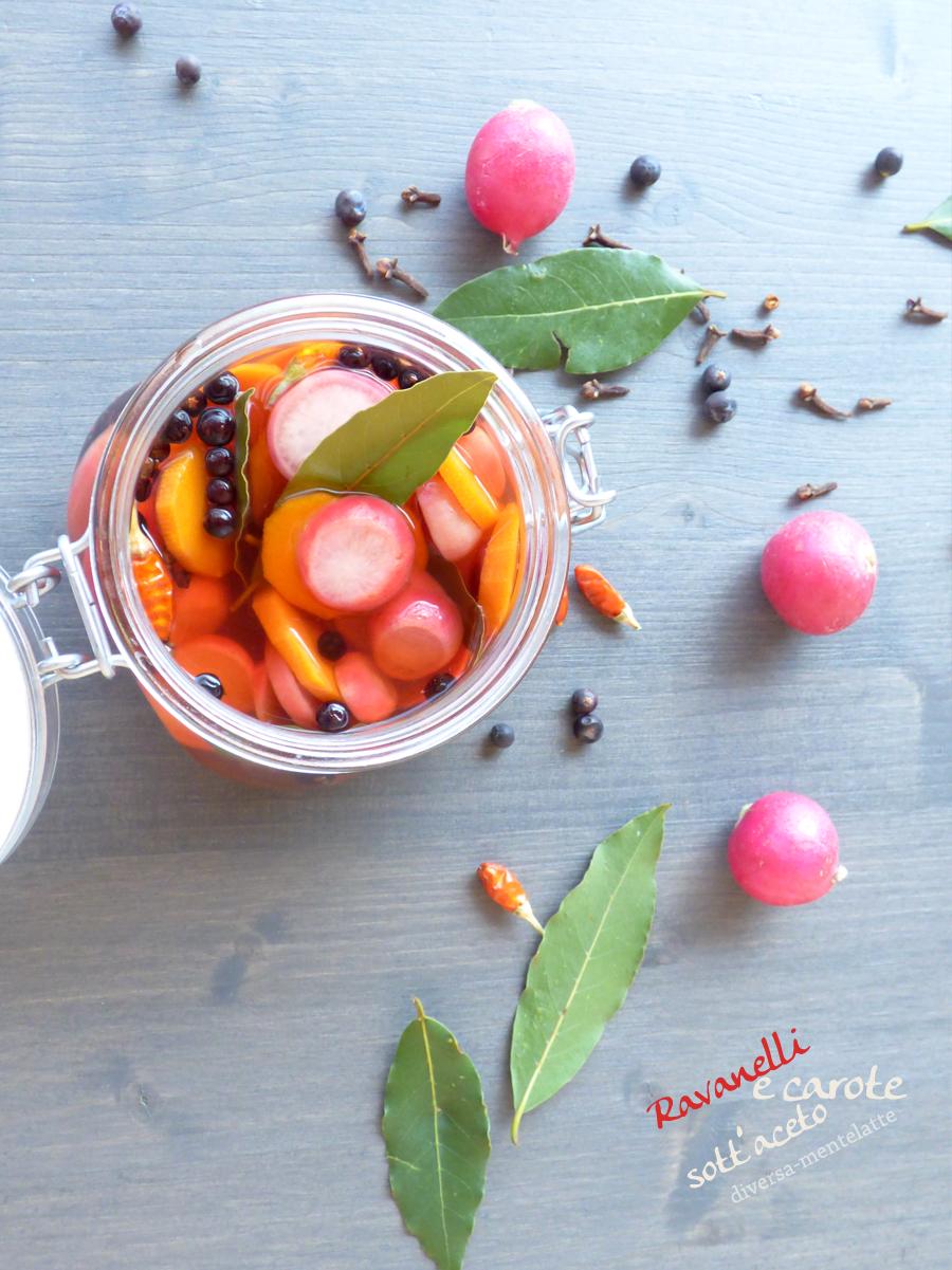 ravanelli carote in barattolo