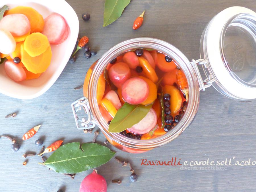 ravanelli carote sotto aceto