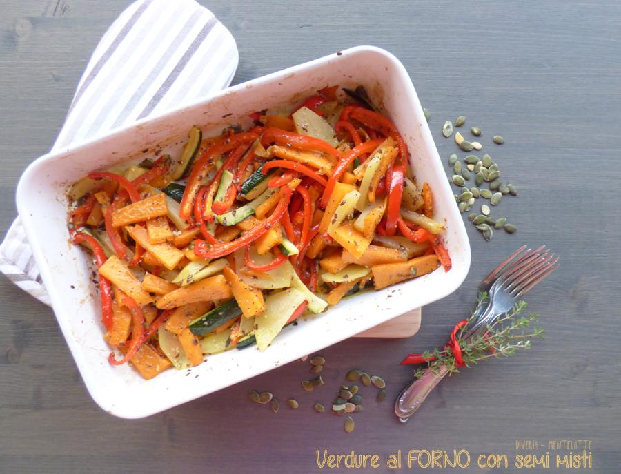 verdure al forno semi misti