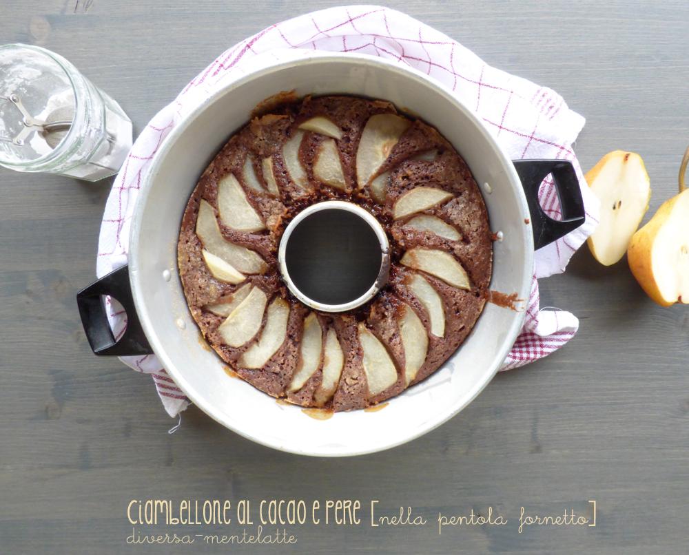 ciambellone cacao pere pentola fornetto