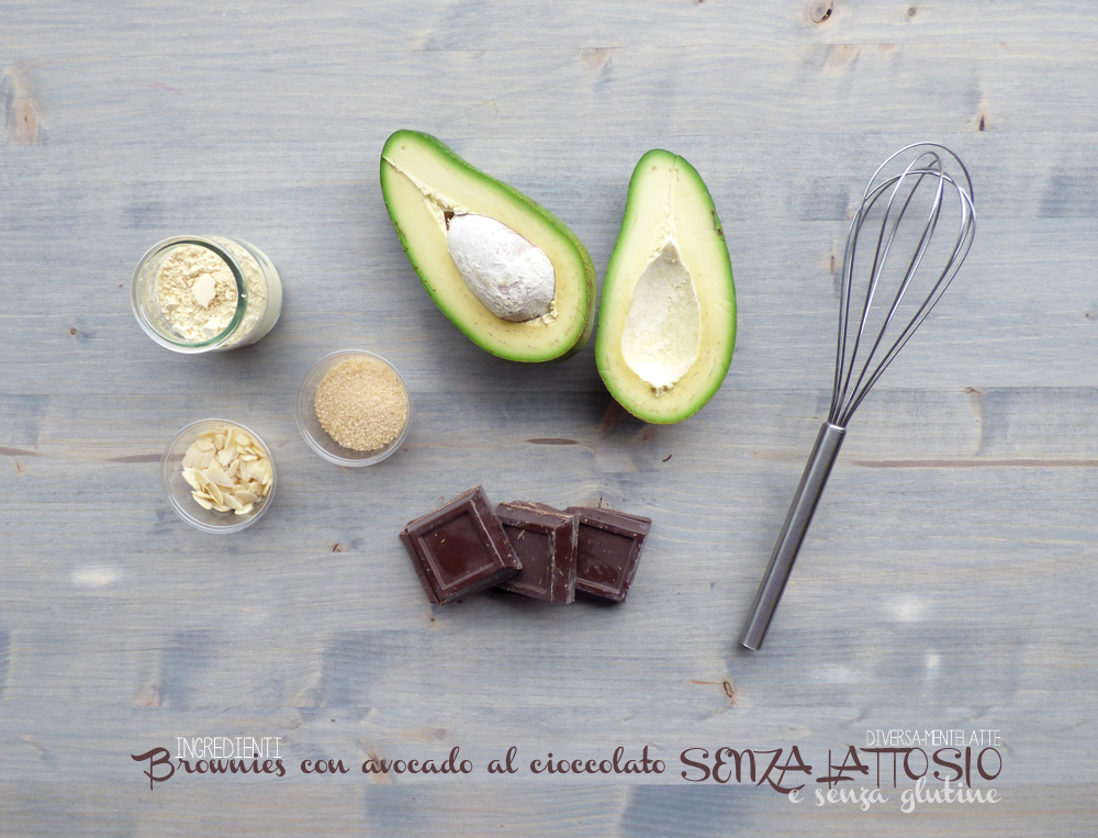 ingredienti brownies con avocado