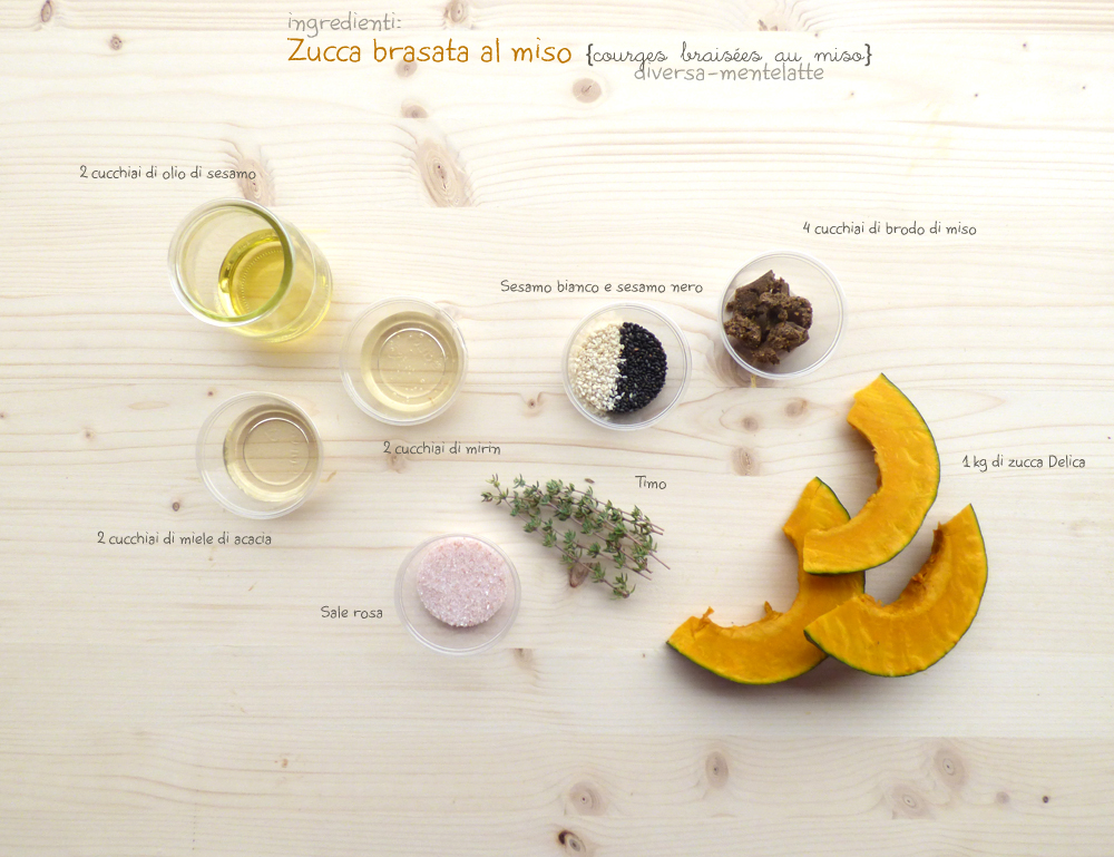 ingredienti zucca brasata al miso