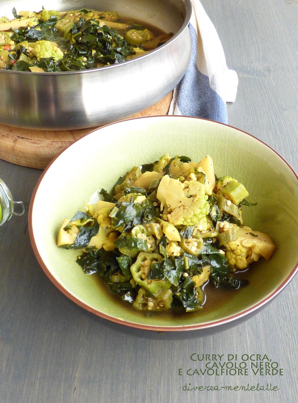 curry ocra cavolo nero