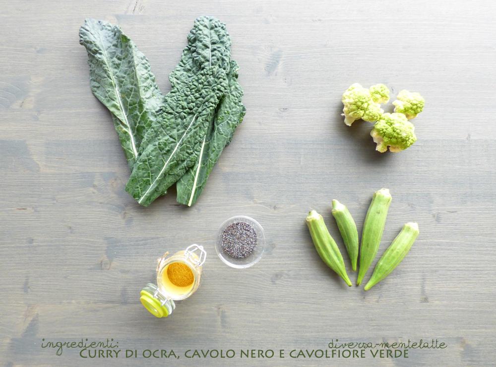 ingredienti curry ocra cavolo nero cavolfiore verde