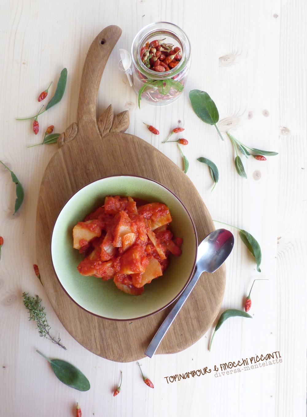 topinambour e finocchi al peperoncino