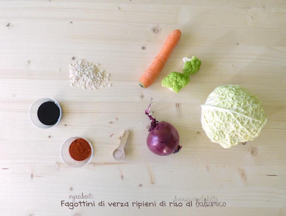 ingredienti fagottini di verza-ripieni di riso al balsamico