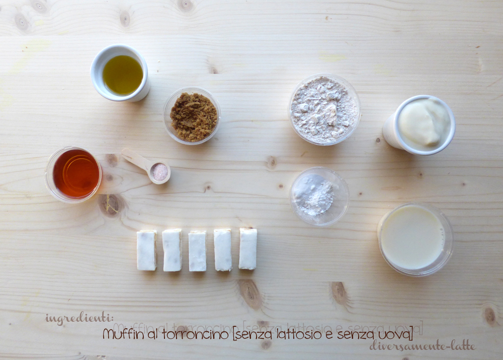 ingredienti muffin al torroncino
