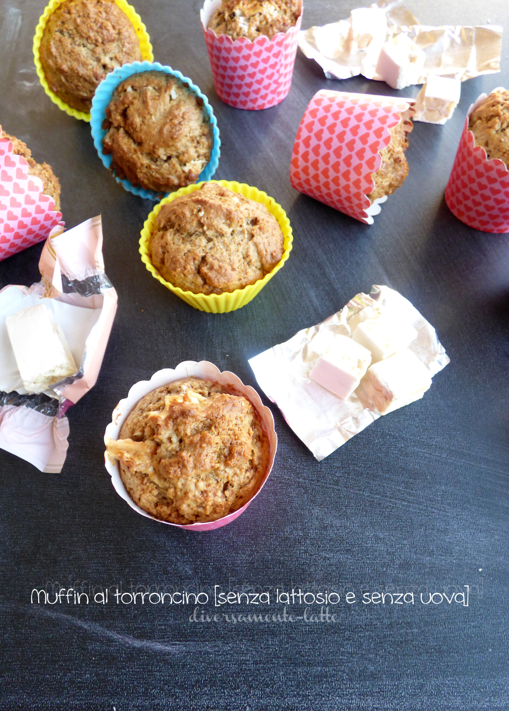 muffin al torroncino