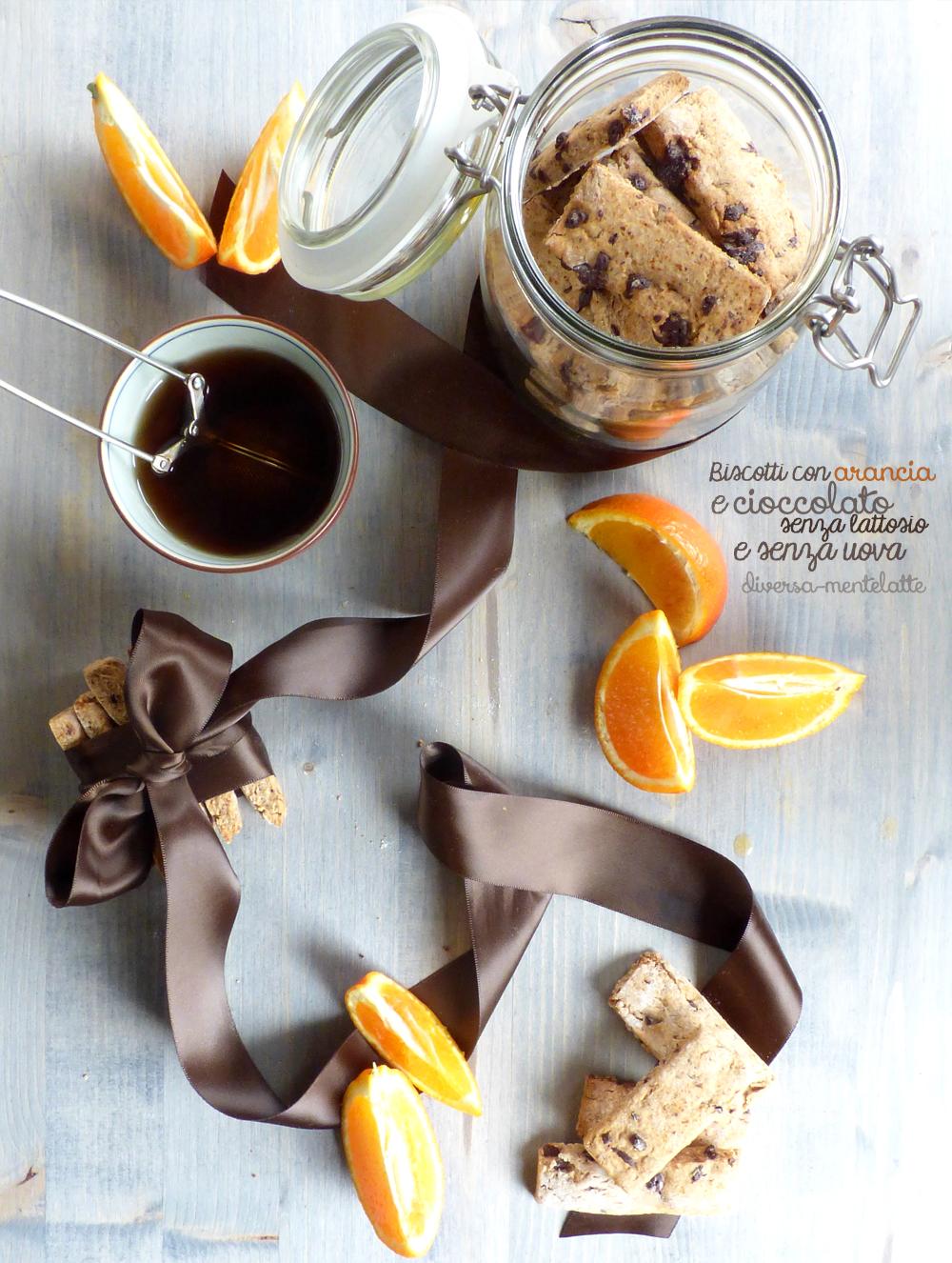Biscotti con arancia e cioccolato-senza lattosio senza uova