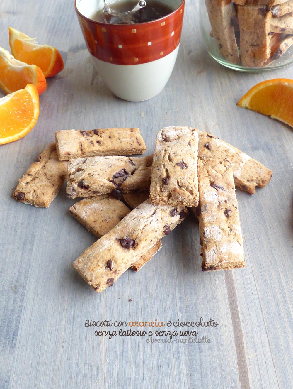 Biscotti con arancia e cooccolato senza lattosio