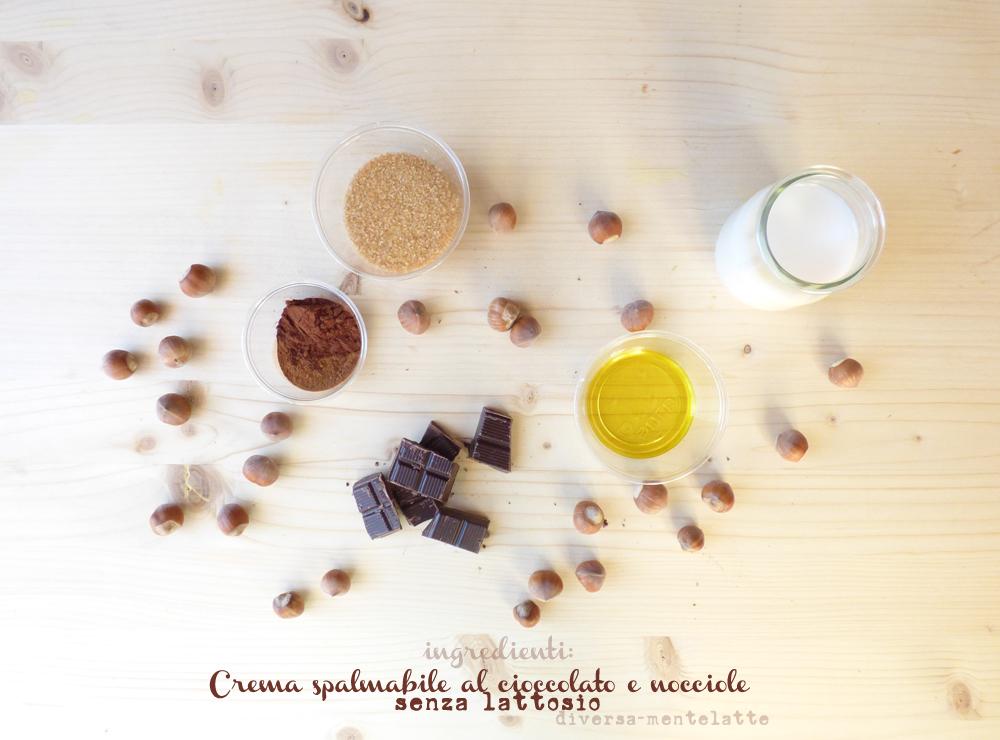 ingredienti crema spalmabile cioccolato e nocciole