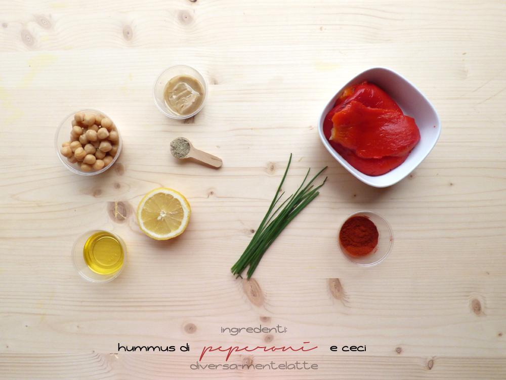 ingredienti hummus di peperoni e ceci