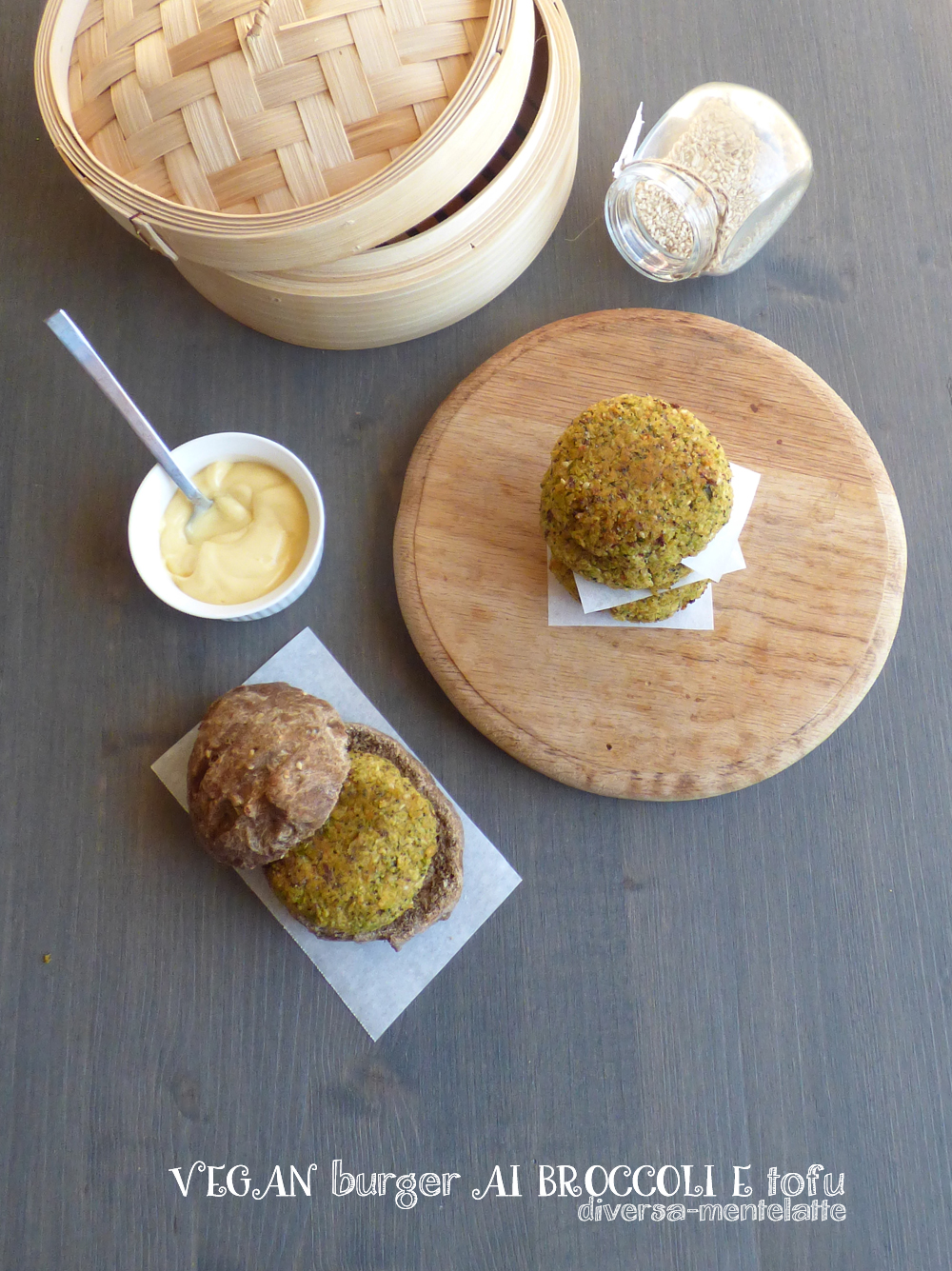vegan burger ai broccol e tofu