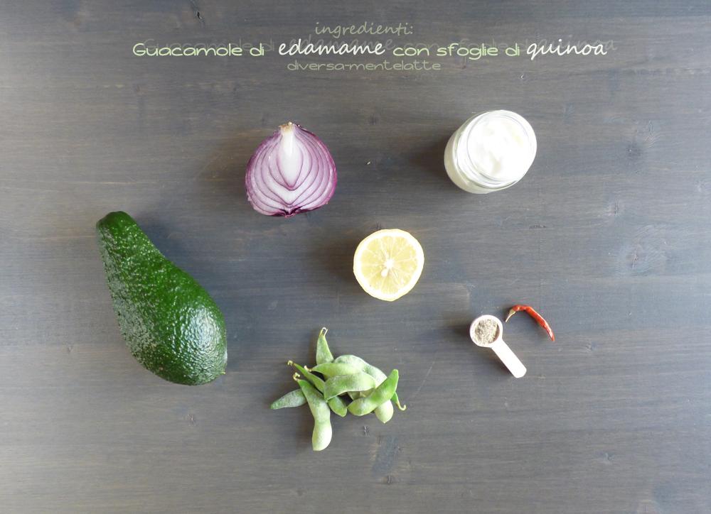 ingredienti guacamole di edamame