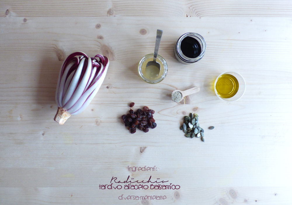 ingredienti radicchio tardivo all'aceto balsamico
