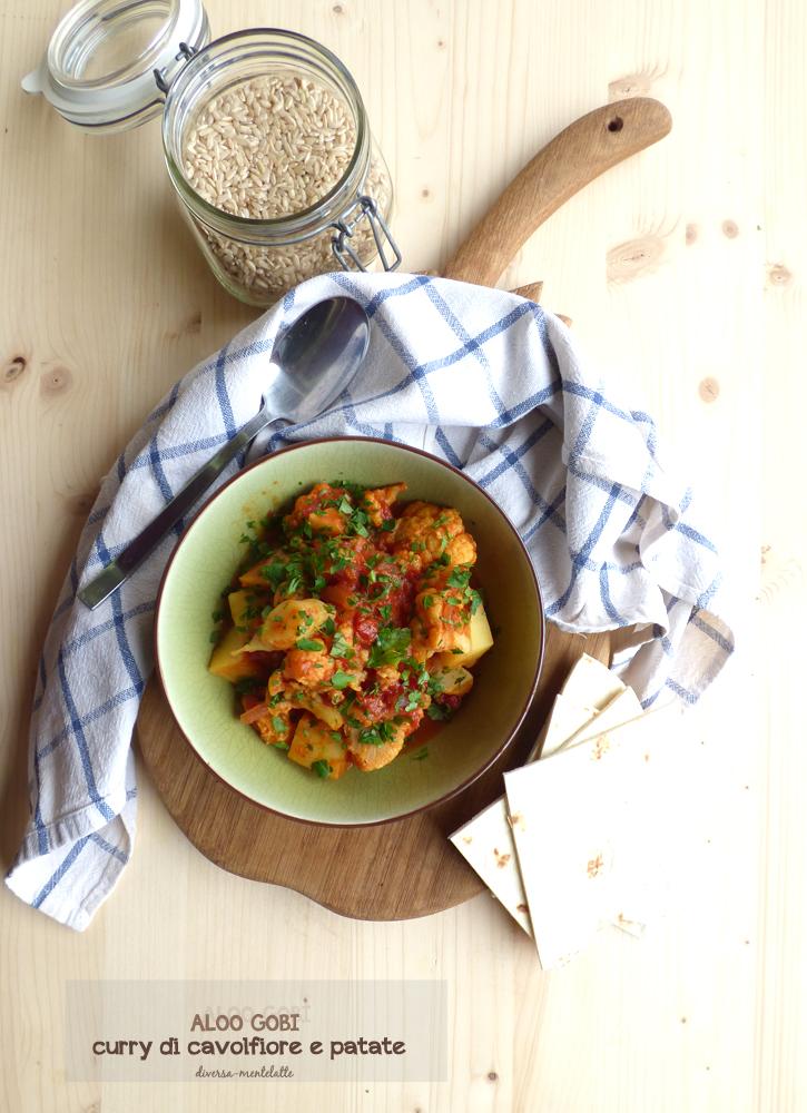 aloo gobi curry di cavolfiore e patate