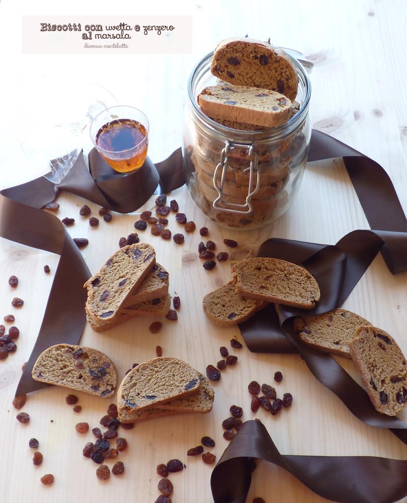 biscotti con uvetta e zenzero al marsala senza lattosio