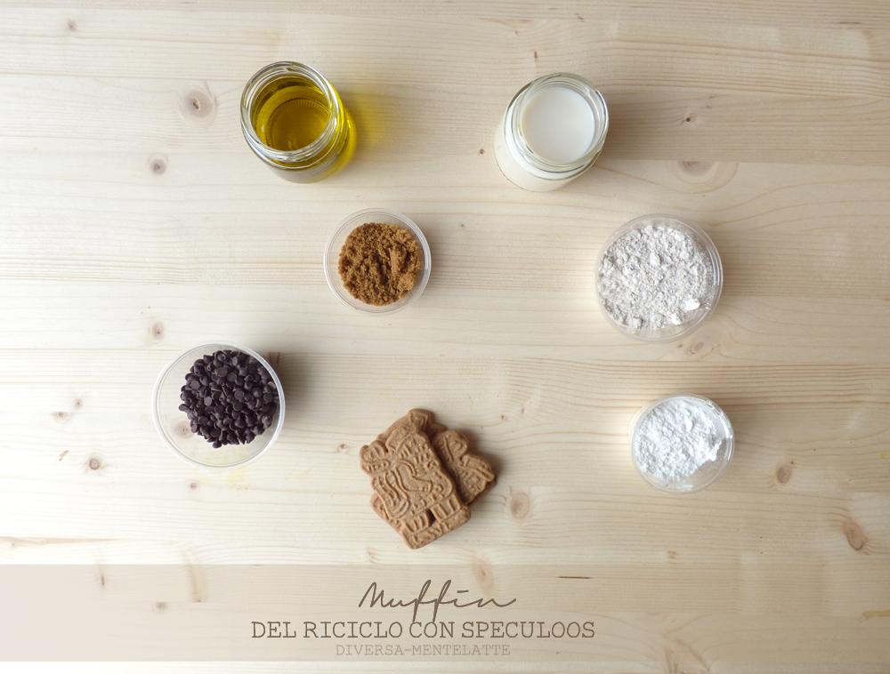 ingredienti muffin del riciclo con speculoos